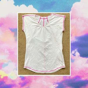 WOMENS HEAD GOLF PINK AND WHITE BLOUSE